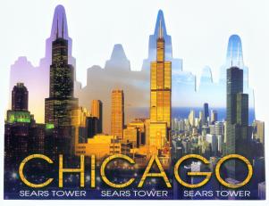 Cutout_Shape_Sears_Tower_Chicago_Postcard_CH572_F